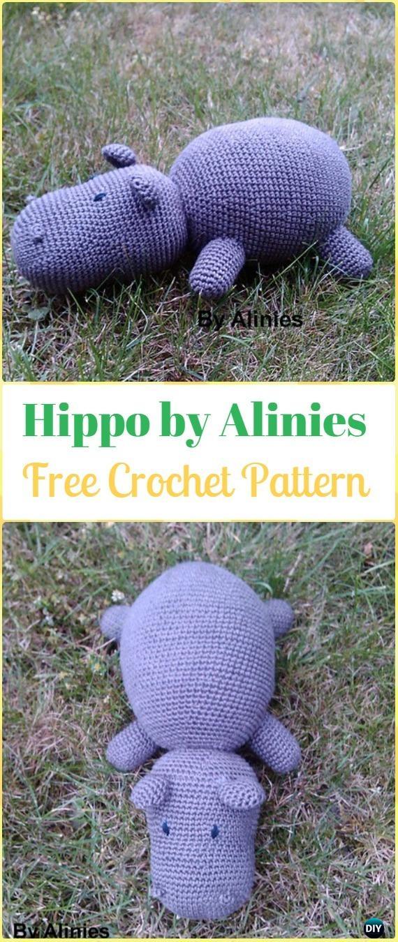 Crochet Amigurumi Hippo by Alinies Free Pattern - Amigurumi Crochet Hippo Toy Softies Free Patterns