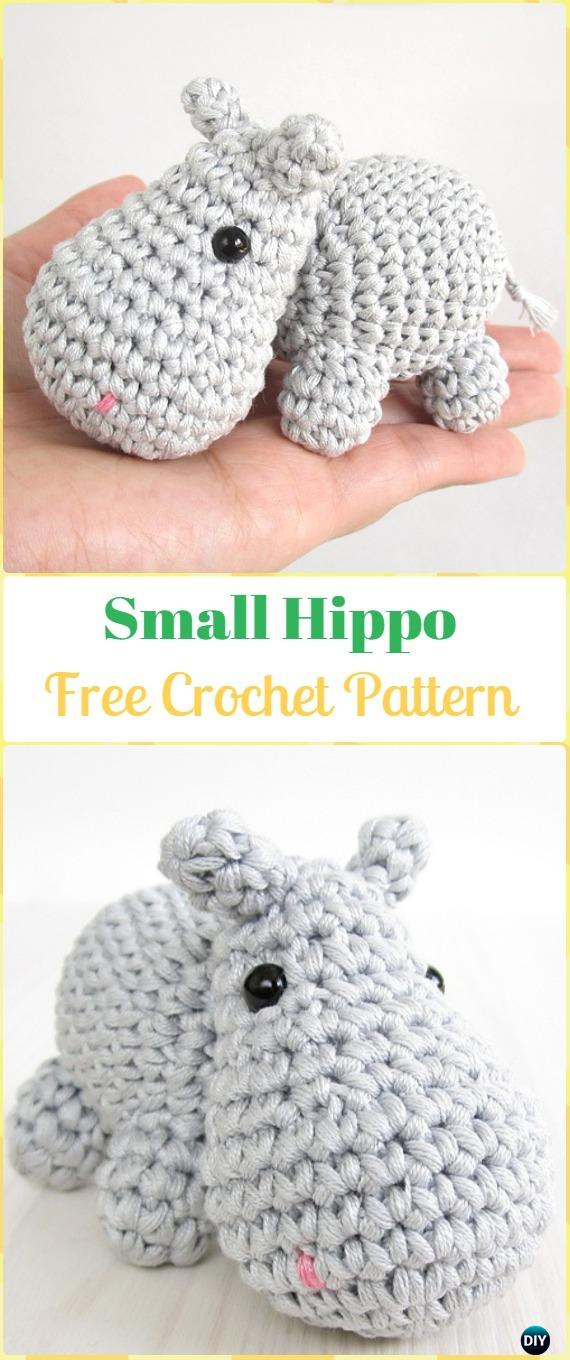 Crochet Amigurumi Small hippo Free Pattern - Amigurumi Crochet Hippo Toy Softies Free Patterns