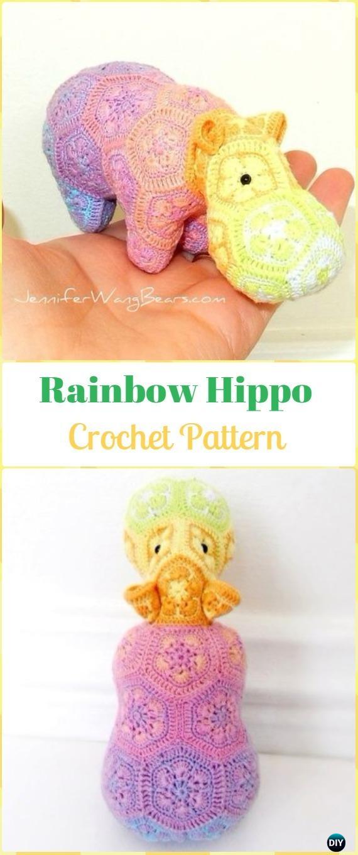 35+ Marvelous Happy Hippo Crochet Pattern Free - crochetnstyle.com | 1360x570