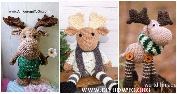 Amigurumitogo Moose : Amigurumi crochet moose toy softies free patterns