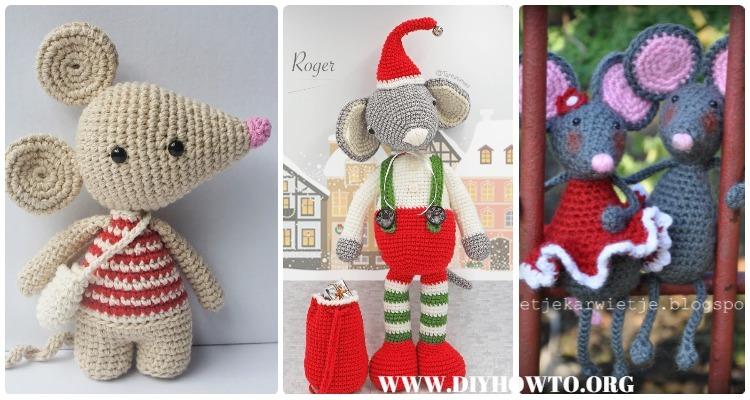 Amigurumi Crochet Mouse Toy Softies Free Patterns