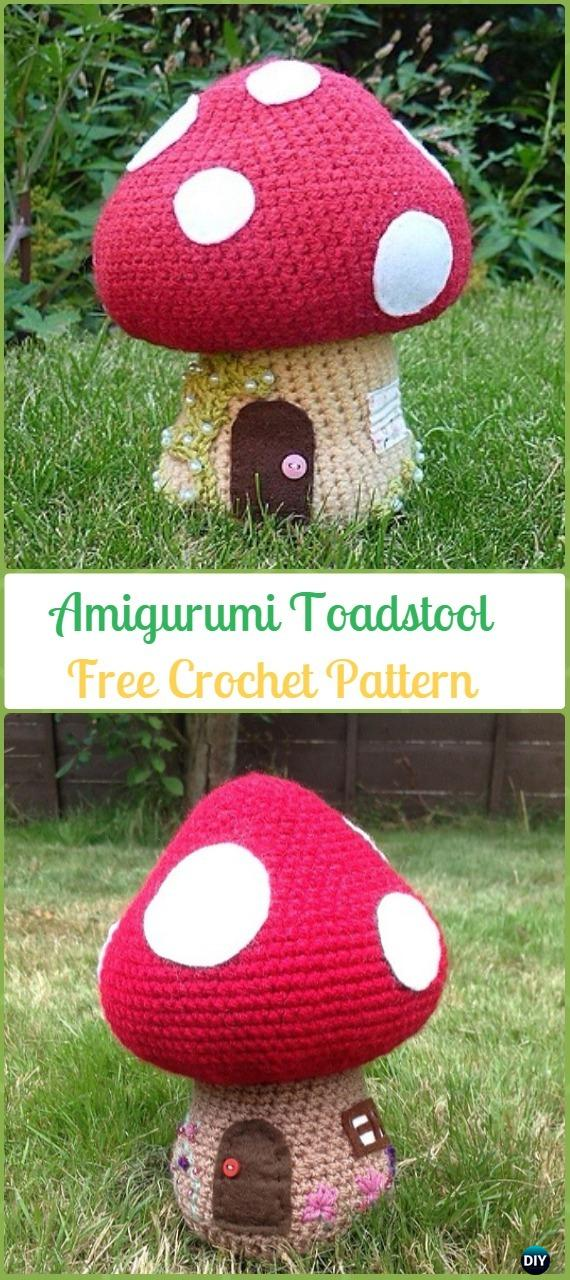 Crochet Toadstool Amigurumi Free Pattern - Amigurumi Crochet Mushroom Softies Free Patterns