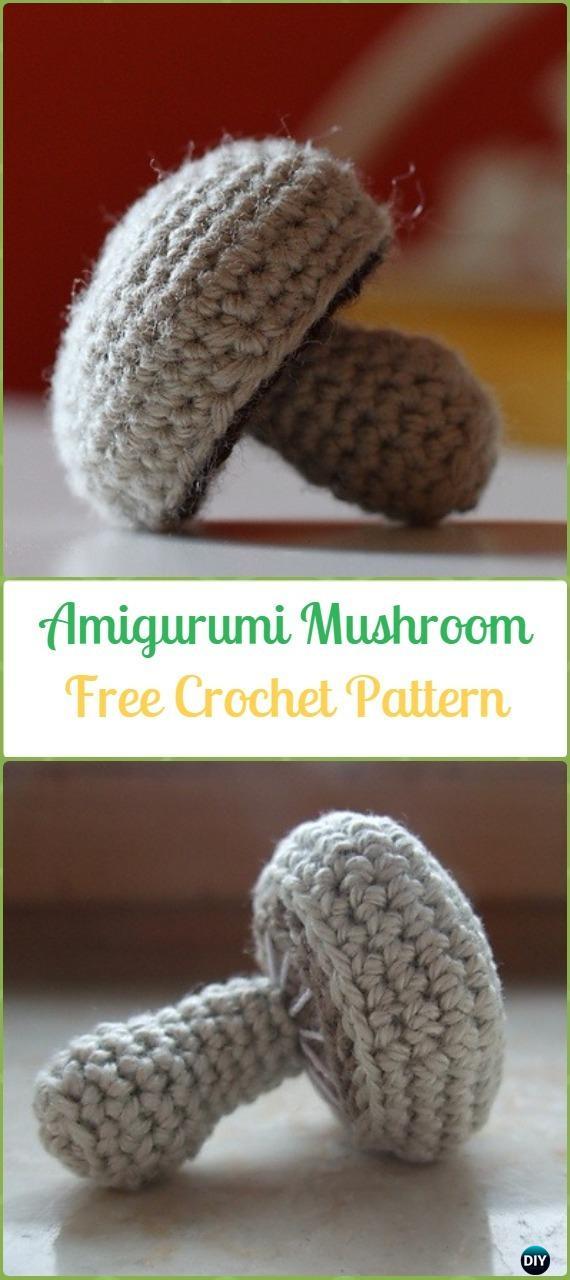 Crochet Mushroom Amigurumi Free Pattern - Amigurumi Crochet Mushroom Softies Free Patterns