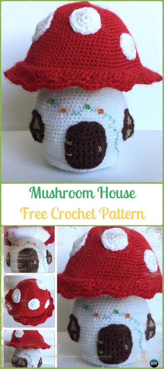 Crochet Mushroom House Amigurumi Free Pattern Amigurumi Crochet