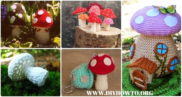 Amigurumi Crochet Mushroom Softies Free Patterns Paid