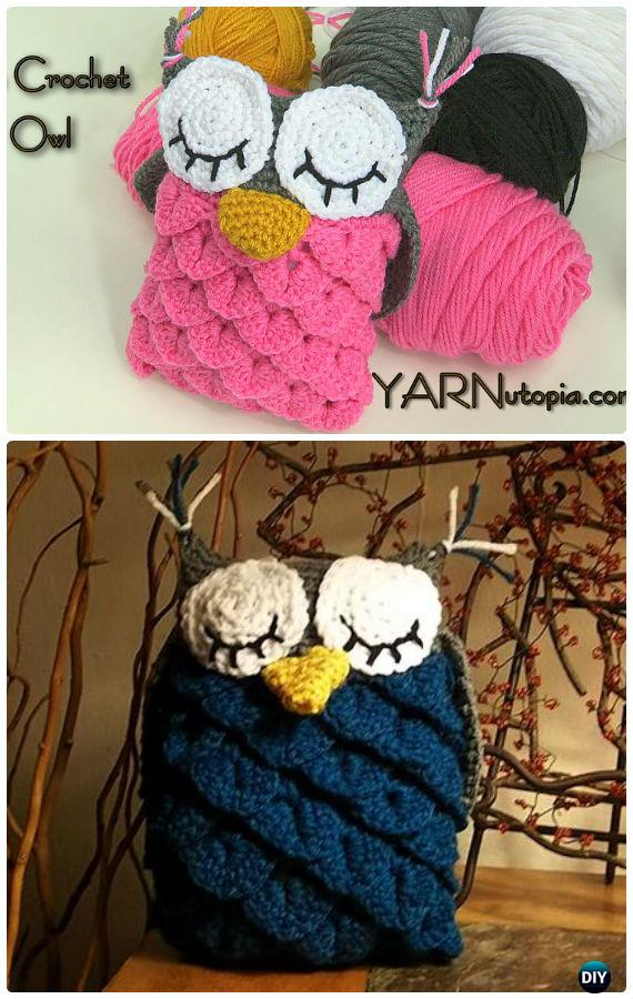 Crochet Crocodile Stitch Owl Free Pattern-Amigurumi Crochet Owl Free Patterns