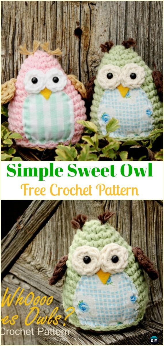 Crochet Simple and Sweet Owl Free Pattern  -Amigurumi Crochet Owl Free Patterns