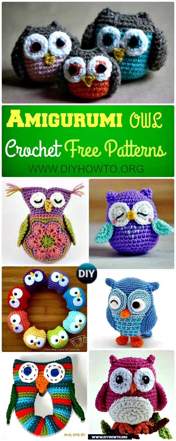 Amigurumi Crochet Owl Free Patterns Instructions: Crochet Owl Toys, Ornaments, Baby Gifts, Home Decor, Owl Pillows and More