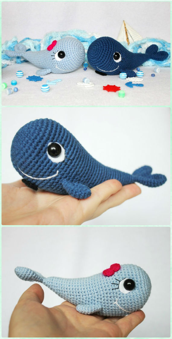 Amigurumi Today Whale : Amigurumi crochet sea creature animal toy free patterns