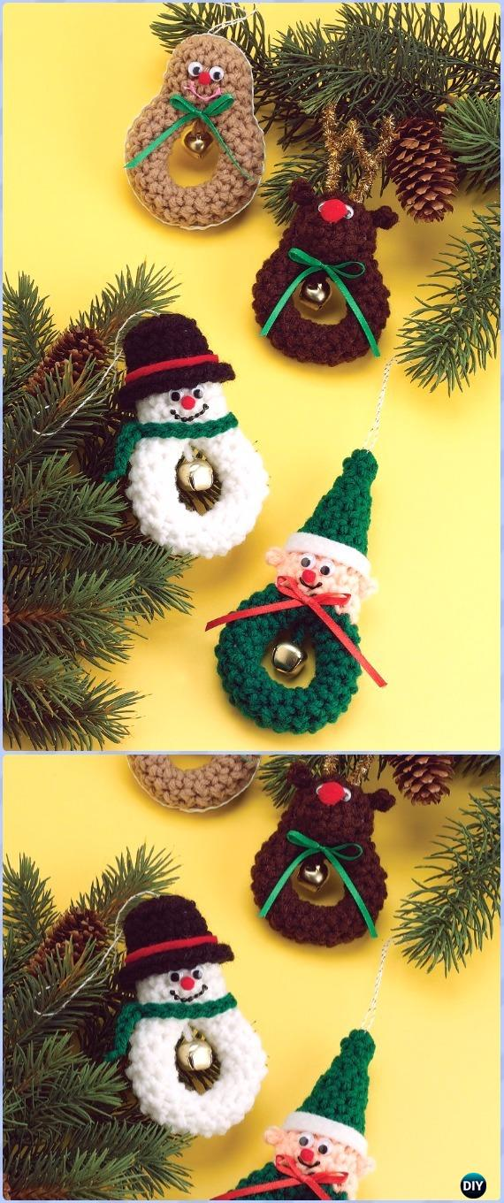 Crochet Christmas Characters Free Patterns - Amigurumi Crochet Snowman Stuffies Toys Free Patterns