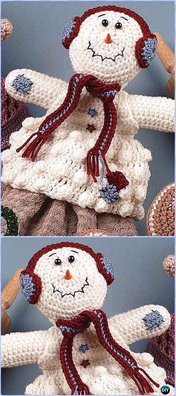 Crochet Snowman Towel Topper Free Pattern - Amigurumi Crochet Snowman Stuffies Toys Free Patterns