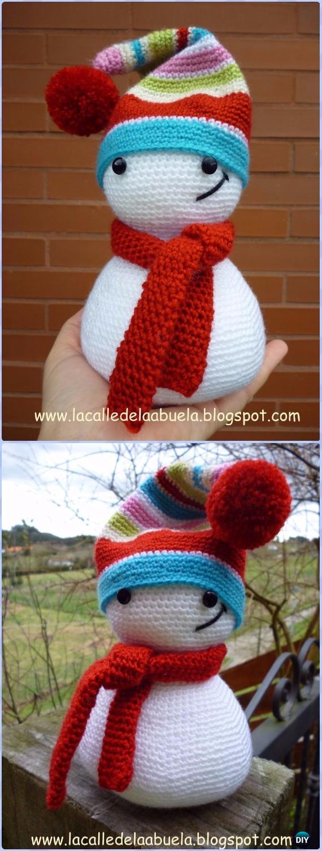 Crochet Snowman Softies Toys Free Patterns