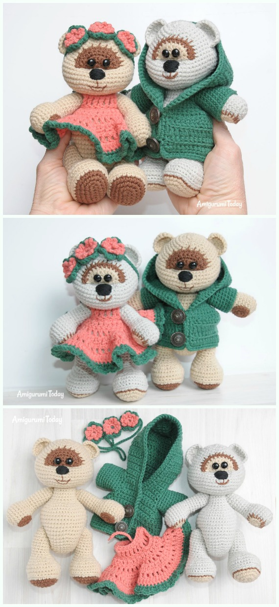 Amigurumi Amigurumi Honey Teddy Bear in Love Free Crochet Pattern - #Amigurumi; Crochet Teddy #Bear; Free Patterns
