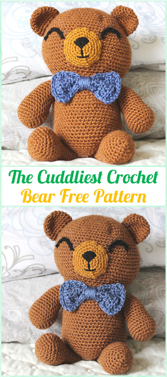 Amigurumi Crochet The Cuddliest Crochet Bear Free Pattern - Amigurumi Crochet Teddy Bear Toys Free Patterns