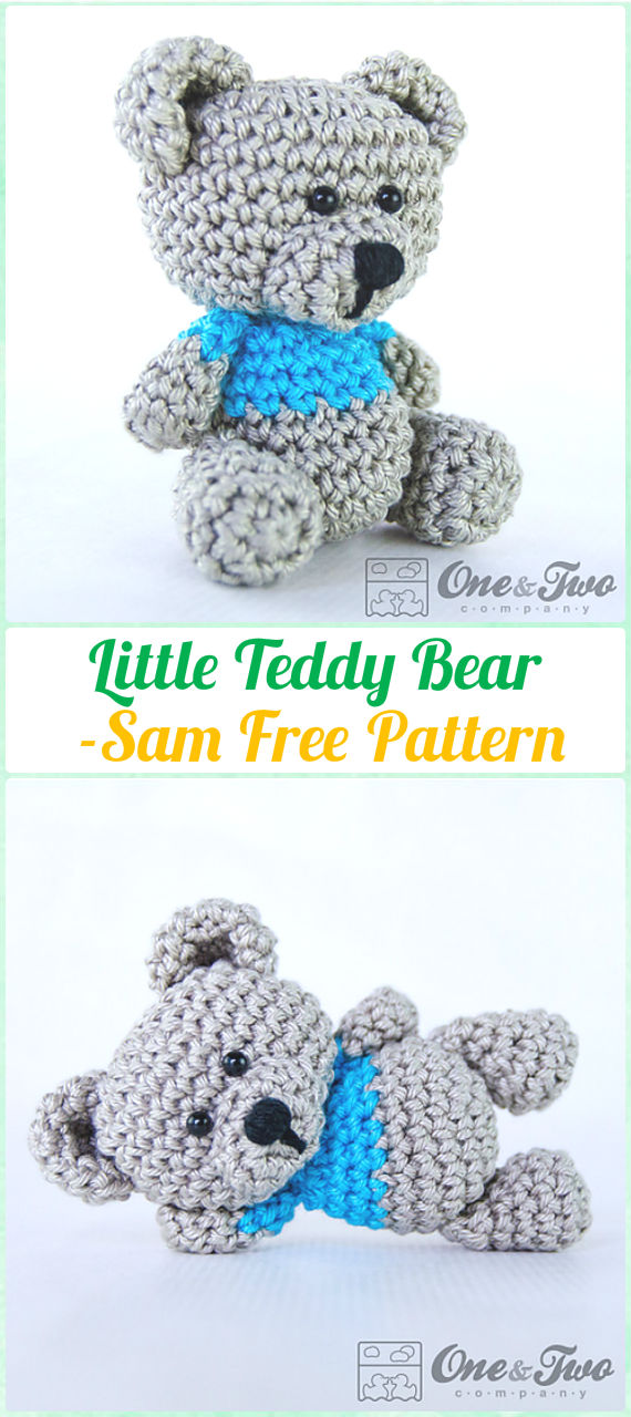 Amigurumi Crochet Sam, the Little Teddy Bear Free Pattern - Amigurumi Crochet Teddy Bear Toys Free Patterns