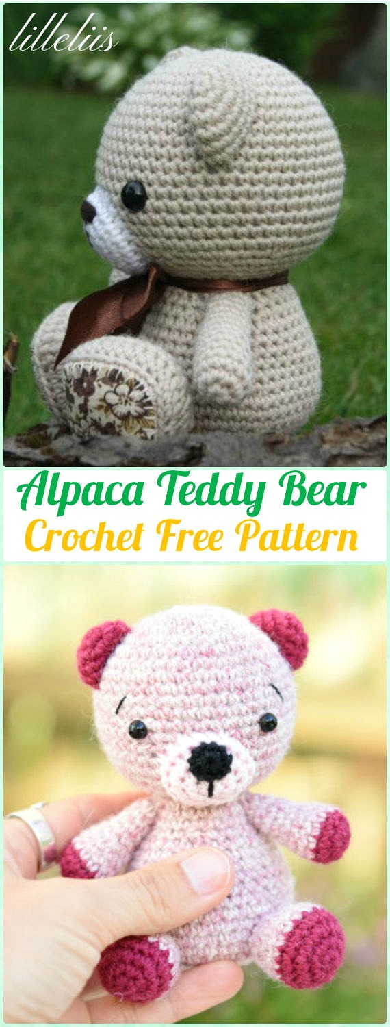Amigurumi Crochet Alpaca Teddy Bear Free Pattern - Amigurumi Crochet Teddy Bear Toys Free Patterns