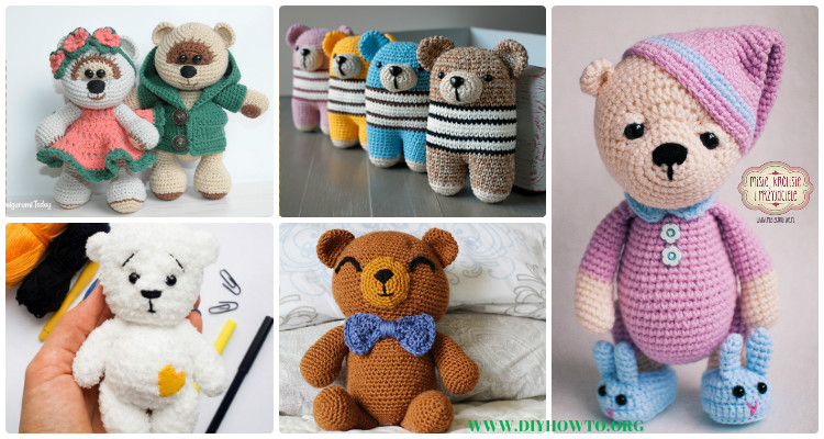 Amigurumi Teddy Bear Free Patterns : Amigurumi crochet teddy bear toys free patterns
