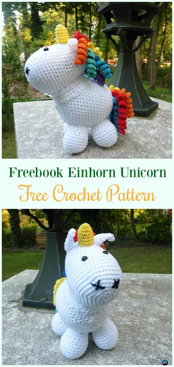 Crochet Freebook Einhorn Unicorn Amigurumi Free Pattern-#Amigurumi Crochet #Unicorn; Toy Softies Patterns