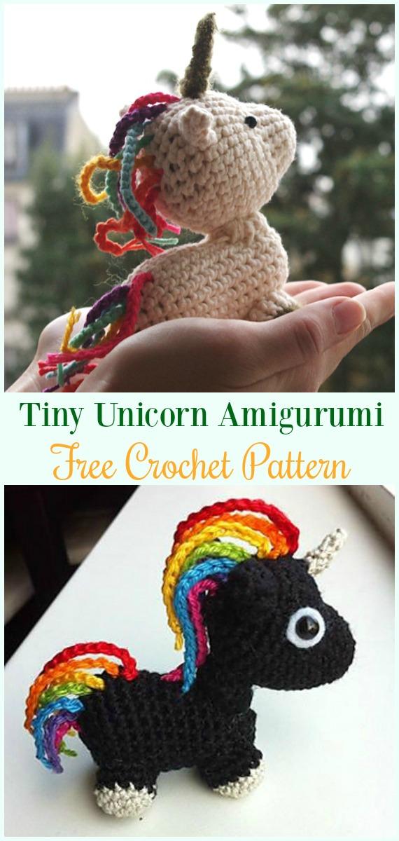 Crochet Tiny Unicorn Amigurumi Free Pattern-#Amigurumi Crochet #Unicorn; Toy Softies Patterns