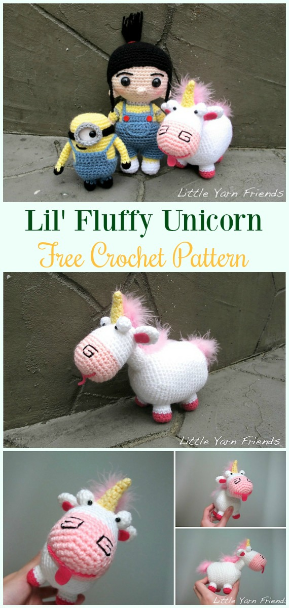 Fluffy Unicorn Amigurumi Pattern (With images) | Amigurumi pattern ... | 1200x570