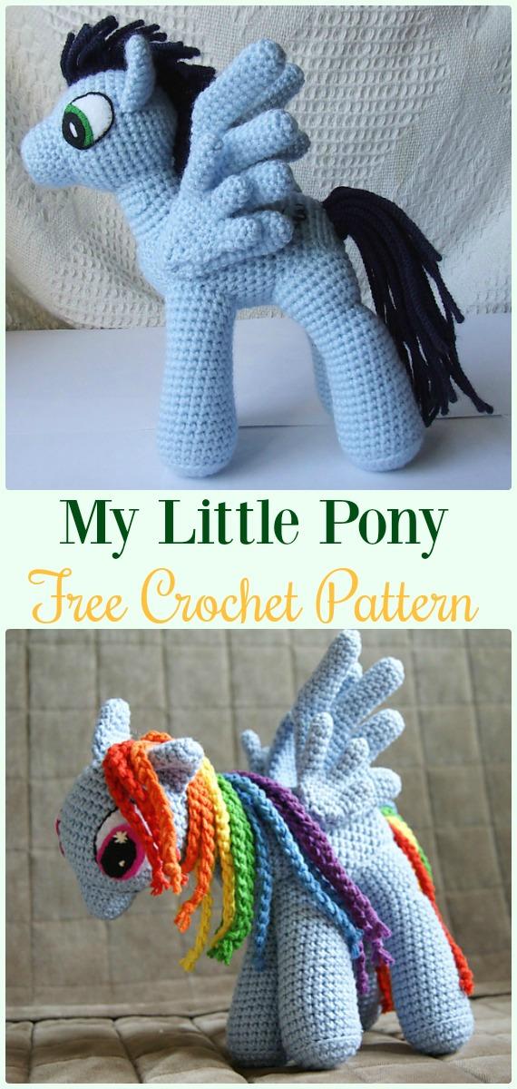 Fantasy Friday: Free My Little Pony Pattern | Crochet unicorn ... | 1200x570