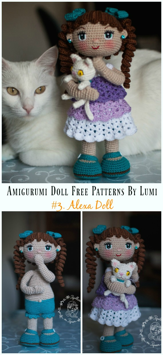 Amigurumi Alexa Doll Crochet Free Pattern - Amigurumi Doll Softies Crochet Free Patterns By Lumi