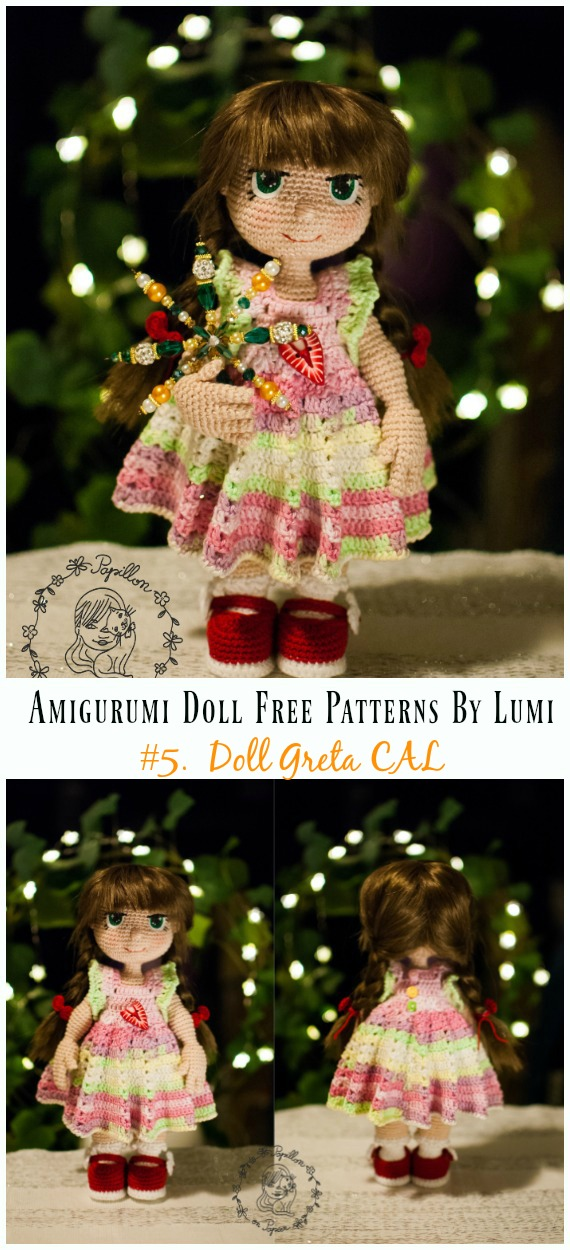 Amigurumi CAL Doll Greta Crochet Free Pattern - Amigurumi Doll Softies Crochet Free Patterns By Lumi