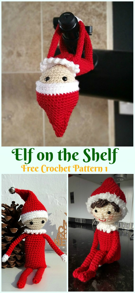 Crochet Elf on the Shelf Amigurumi Free Pattern - #Amigurumi; #Elf ; Toy Softies Crochet Free Patterns