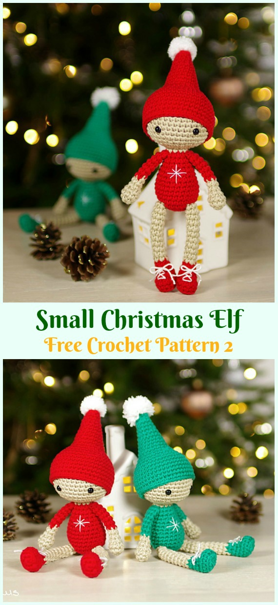 Crochet Small Christmas Elf Amigurumi Free Pattern - #Amigurumi; #Elf ; Toy Softies Crochet Free Patterns
