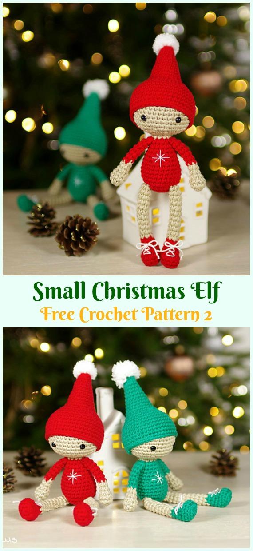 Crochet Small Christmas Elf Amigurumi Free Pattern - #Amigurumi; #Elf ; Toy Softies Crochet Free Patterns