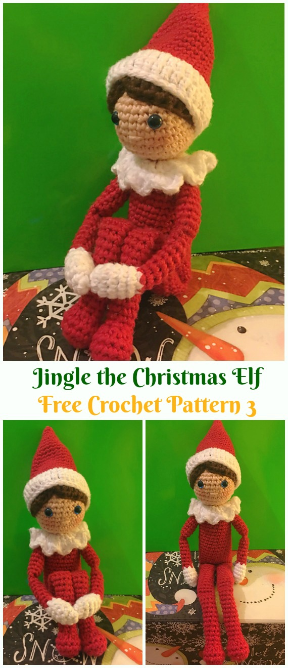 Crochet Jingle the Christmas Elf Amigurumi Free Pattern - #Amigurumi; #Elf ; Toy Softies Crochet Free Patterns