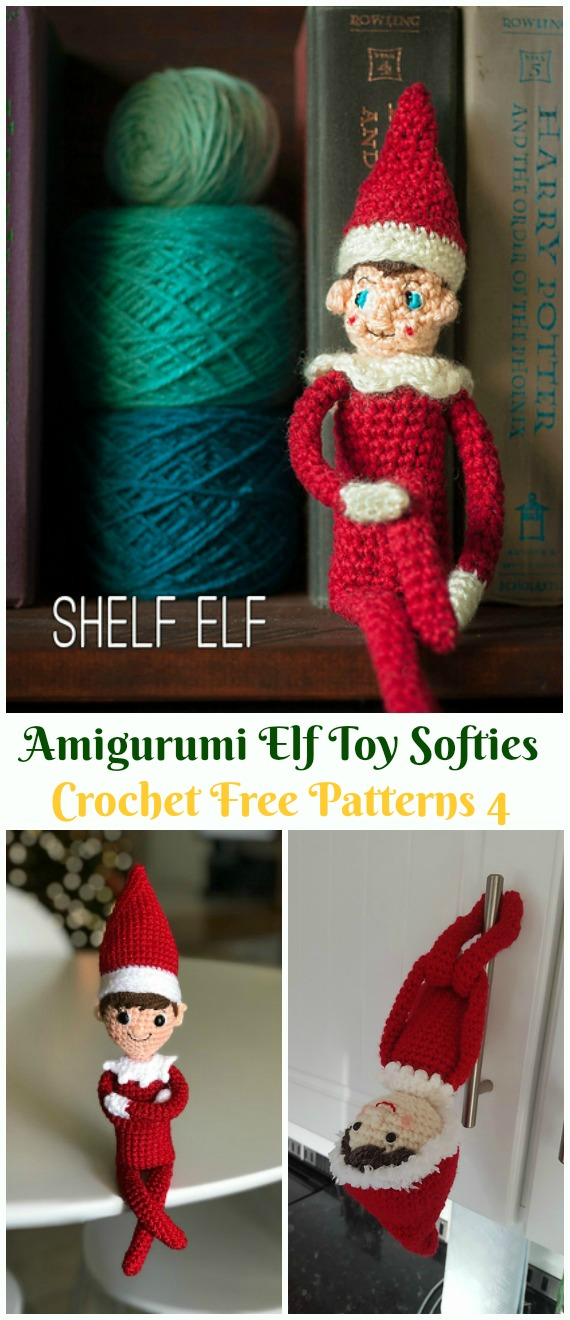 Crochet Shelf Elf Amigurumi Free Pattern - #Amigurumi; #Elf ; Toy Softies Crochet Free Patterns