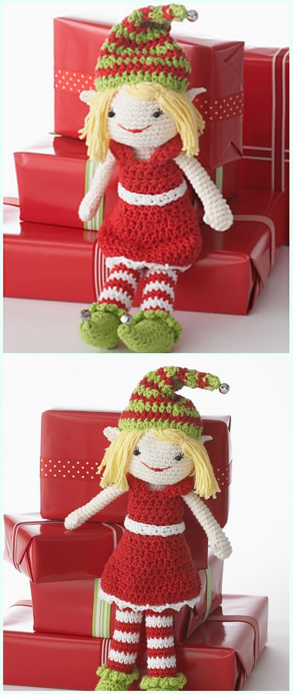 Crochet Lily the Christmas Elf Amigurumi Free Pattern - #Amigurumi; #Elf ; Toy Softies Crochet Free Patterns