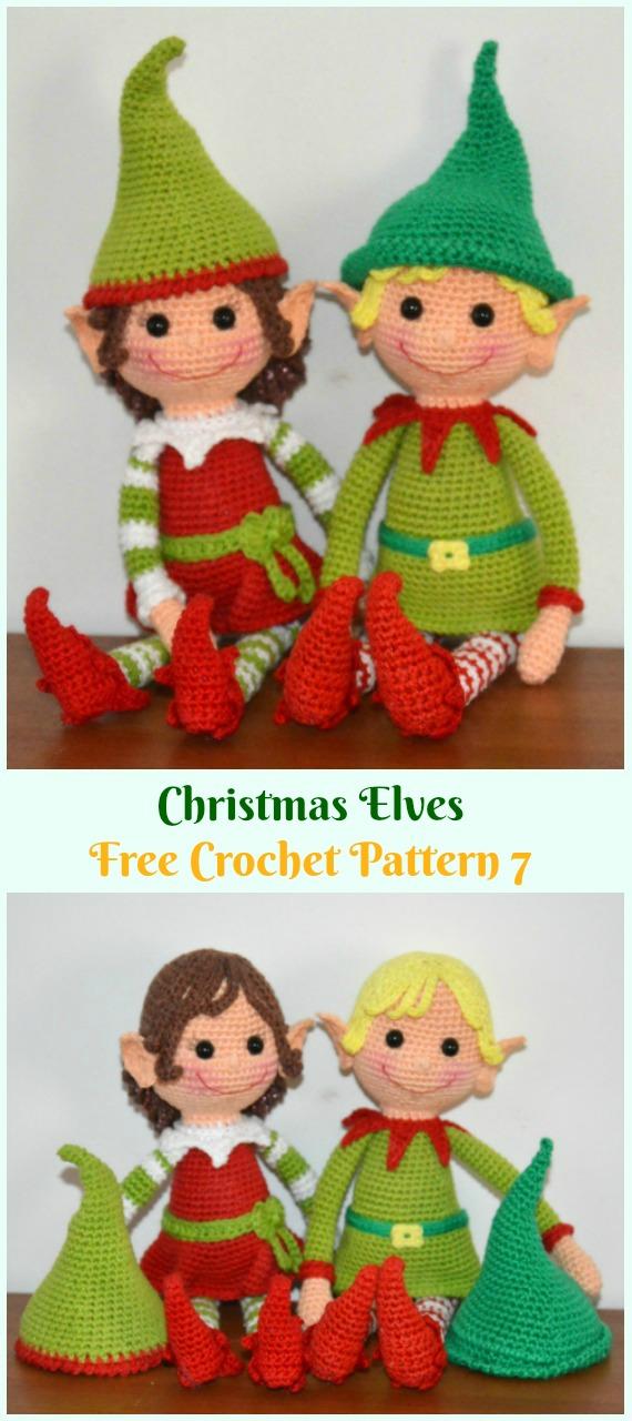 Crochet Christmas Elves Amigurumi Free Pattern - #Amigurumi; #Elf ; Toy Softies Crochet Free Patterns