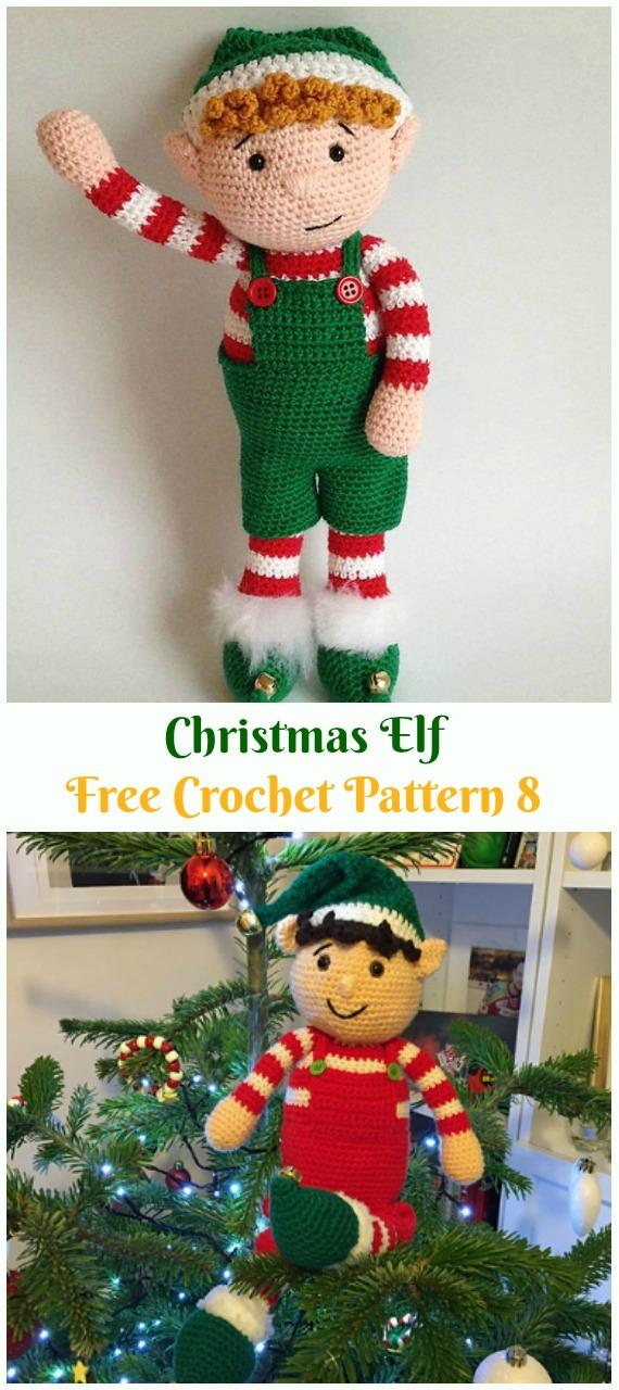 Crochet Christmas Elf Amigurumi Free Pattern - #Amigurumi; #Elf ; Toy Softies Crochet Free Patterns