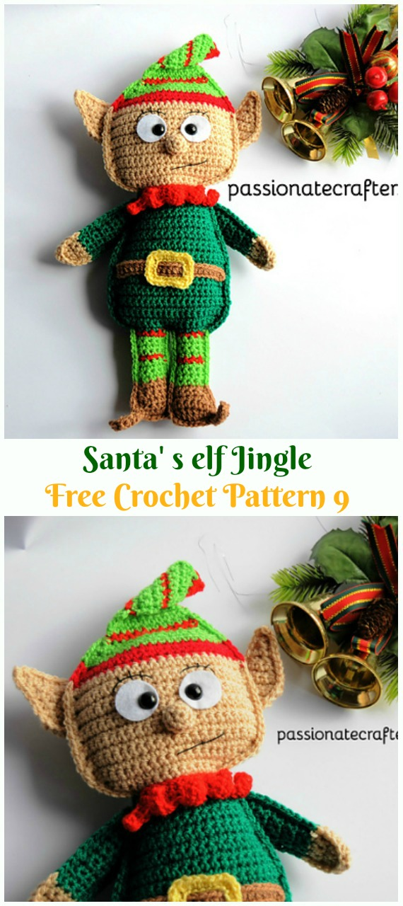 Crochet Santa' s Elf Jingle Amigurumi Free Pattern - #Amigurumi; #Elf ; Toy Softies Crochet Free Patterns