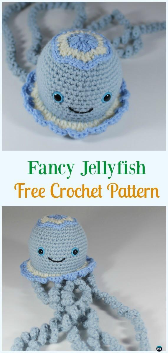 Fancy Jellyfish Amigurumi Crochet Free Pattern Amigurumi
