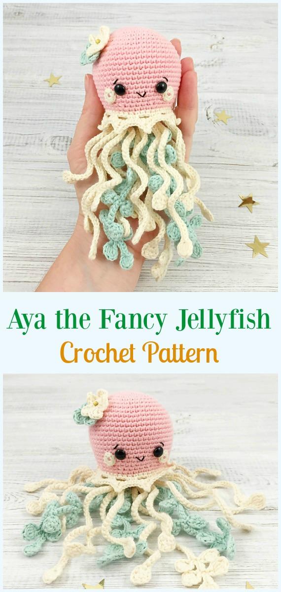 Aya The Fancy Jellyfish Amigurumi Crochet Pattern Amigurumi
