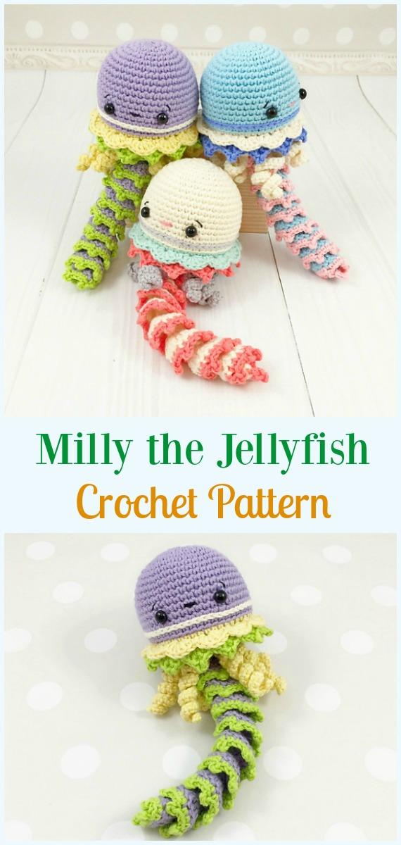 Milly the Jellyfish Amigurumi Crochet Pattern - #Amigurumi ...