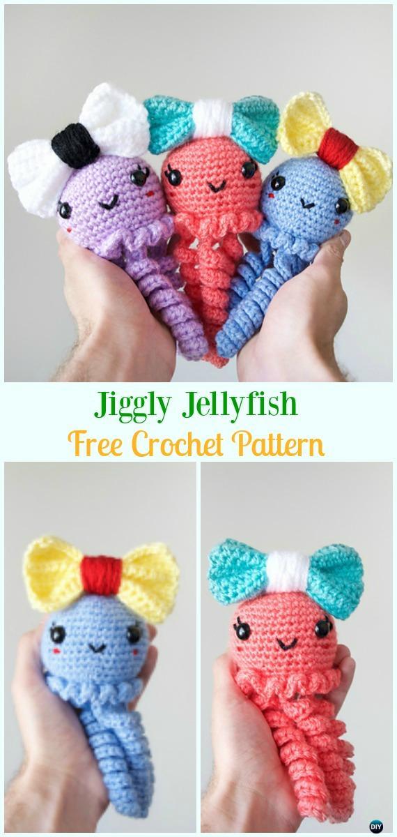 Jiggly Jellyfish Amigurumi Crochet Free Pattern Amigurumi