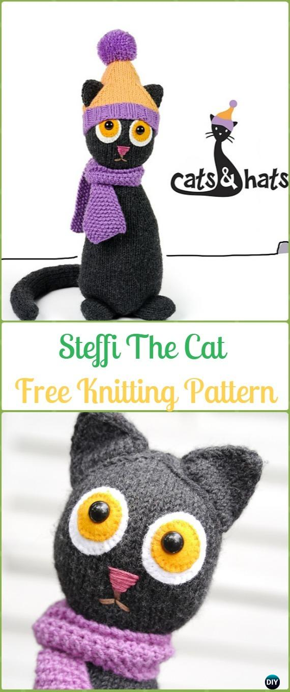 Amigurumi Knit Cat Toy Softies Free Patterns #knittingtoys in 2020 ... | 1360x570