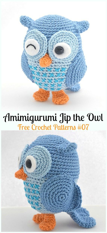 Amimigurumi Jip the Owl Crochet Free Pattern - - #Amigurumi; Crochet #Owl; Toy Softies Free Patterns