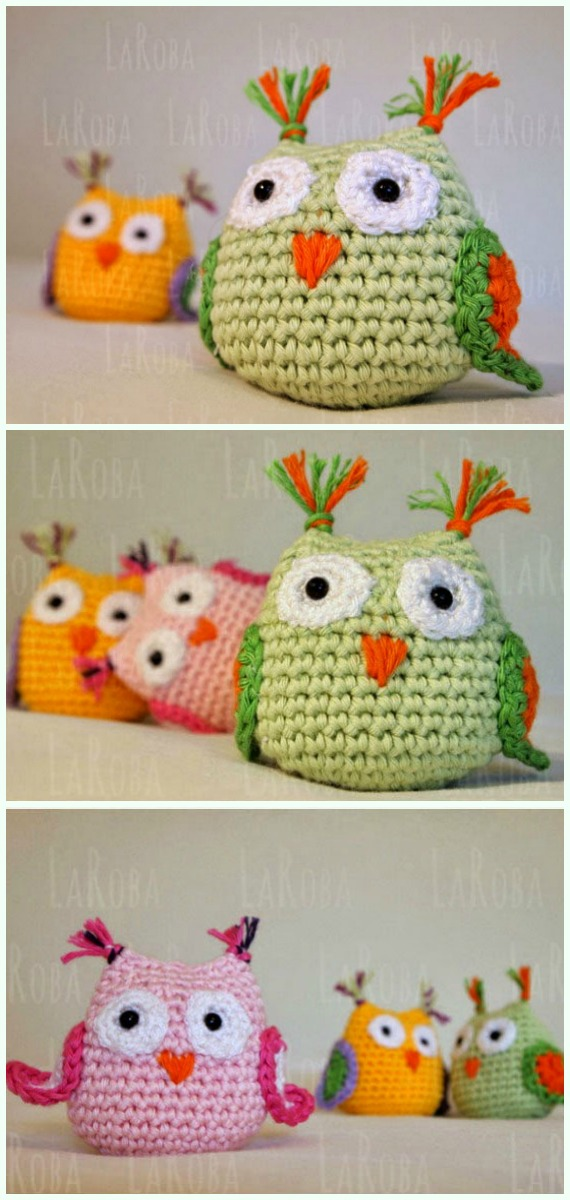 Amimigurumi Cute Owl Crochet Free Pattern - Amigurumi Owl Toy Softies Free Crochet Patterns