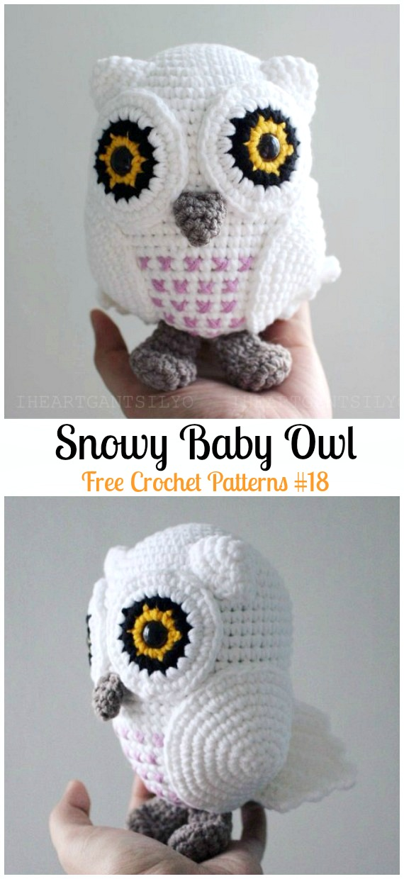 Amimigurumi Snowy Baby Owl Crochet Free Pattern - Amigurumi Owl Toy Softies Free Crochet Patterns