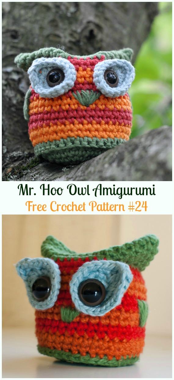 Amimigurumi Mr. Hoo OwlCrochet Free Pattern -Amigurumi Owl Toy Softies Free Crochet Patterns