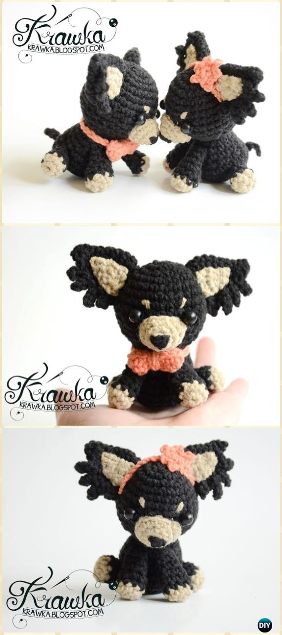 Crochet Wedding Dogs Amigurumi Free Pattern - Amigurumi Puppy Dog Stuffed Toy Patterns