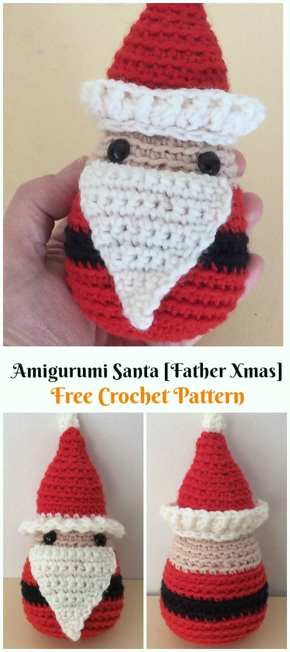 Crochet Santa [Father Xmas] Amigurumi Free Patterns - #Amigurumi; #Santa; Toy Softies Crochet Free Patterns