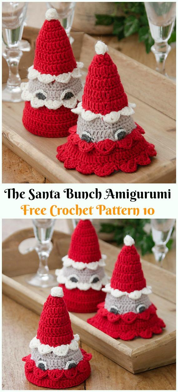 Crochet The Santa Bunch Amigurumi Free Patterns - #Amigurumi; #Santa; Toy Softies Crochet Free Patterns