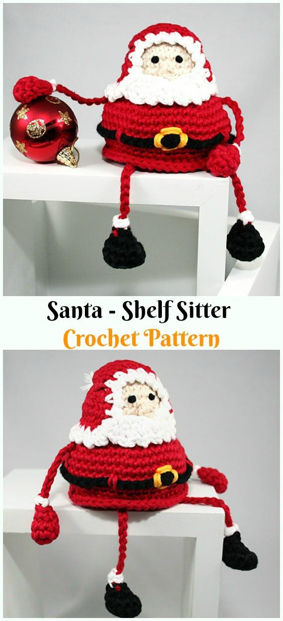 Crochet Santa - Shelf Sitter Amigurumi Paid Pattern - #Amigurumi; #Santa; Toy Softies Crochet Patterns