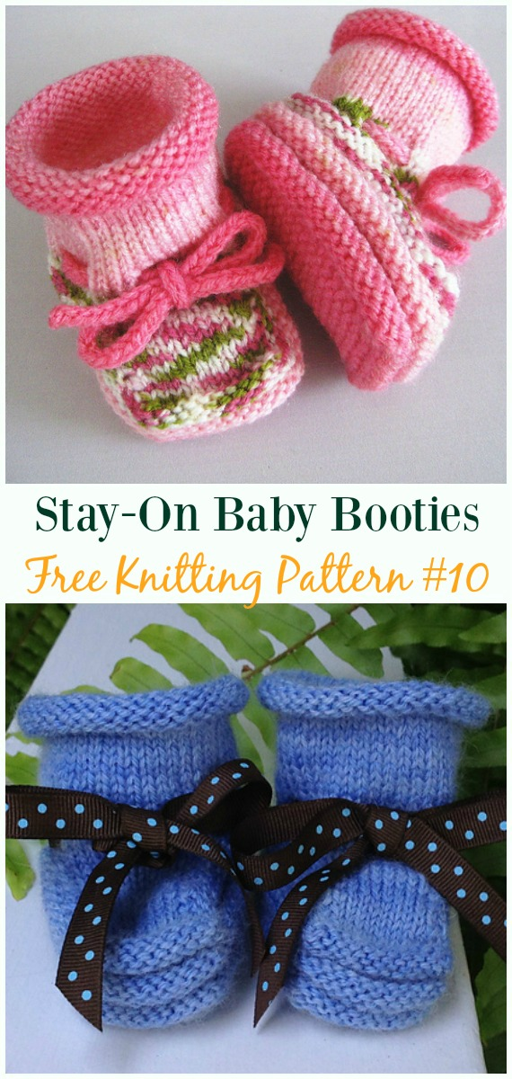 Knit Baby Slipper Booties Free Patterns